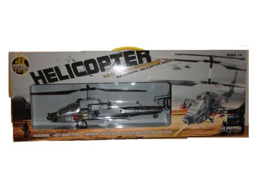 3.5 Channel Military Helicopter Radio Remote Controlled Flying Toy With Flash