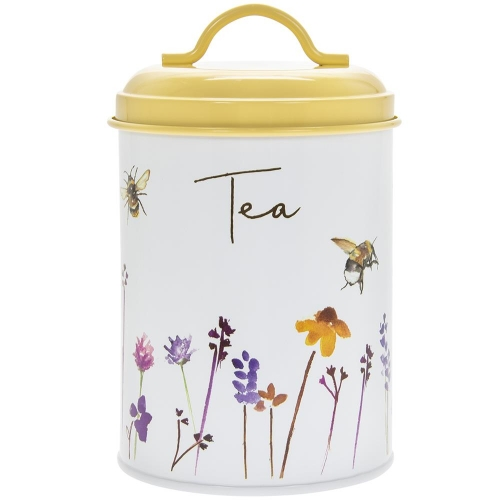 Busy Bees Round Metal Tea Storage Canister