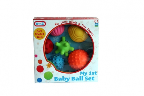 6 Pcs My First Baby Multi Textured Soft Ball Set