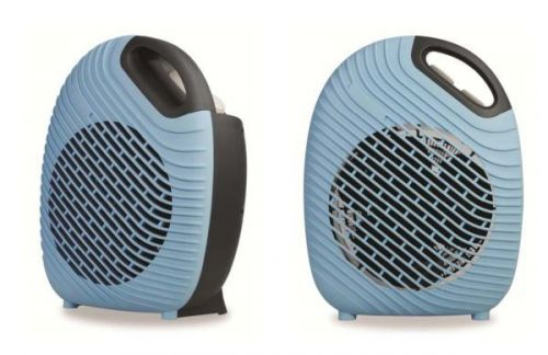 2Kw Blue Two Tone Fan Heater Compact Stylish