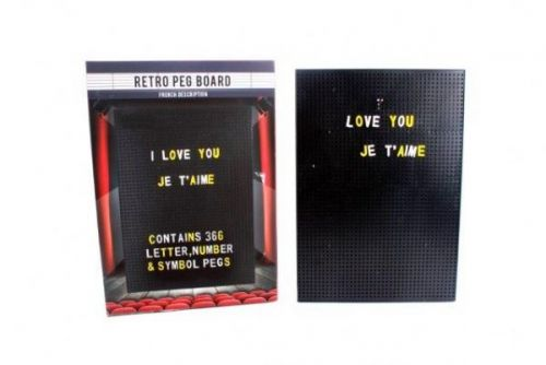 30x21 Cm Peg Board Includes 350Pc Pegs In 2 Assorted Colours