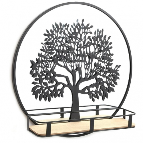 50cm Tree of Life Mirror Wall Mount Shelving Home Ornament