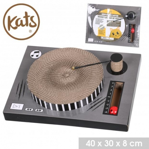 Kats Scratch Board Disc Shape Vinyle With Ball and Bell