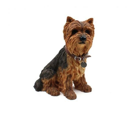 26Cm Yorkshire Terrier Sitting Dog Decoration Home Ornament