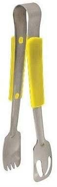 Stainless Steel 23Cm Tong With Yellow Polypropylene Handle Professional Kitchen Essential
