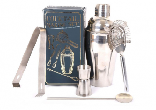 5 Piece Stainless Steel Cocktail Maker Set