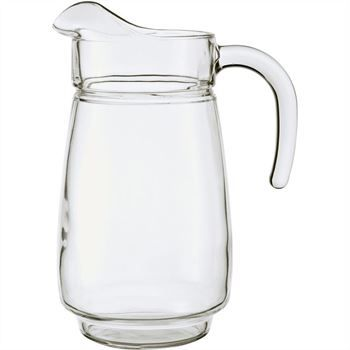 Tivoli Handled Ice Lipped Jug 2.3L Great For Home Or Restaurant Clear Glass