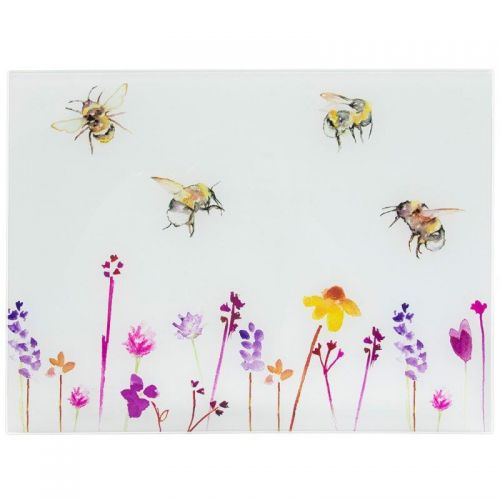 Busy Bees Glass worktop saver chopping Board  cutting Borad