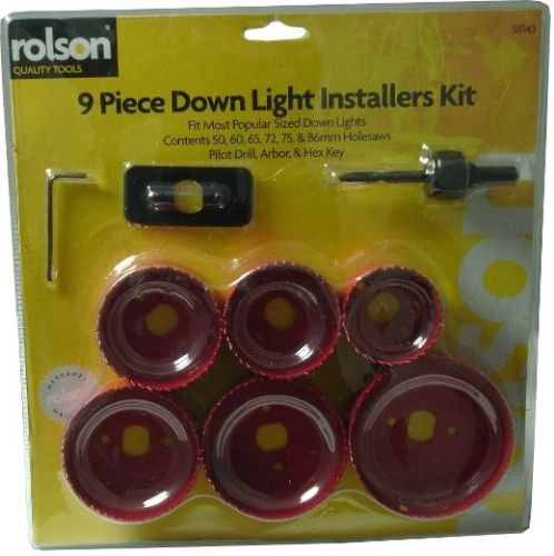 9 Piece Down Light Installers Set 50-60-65-72-75-86mm