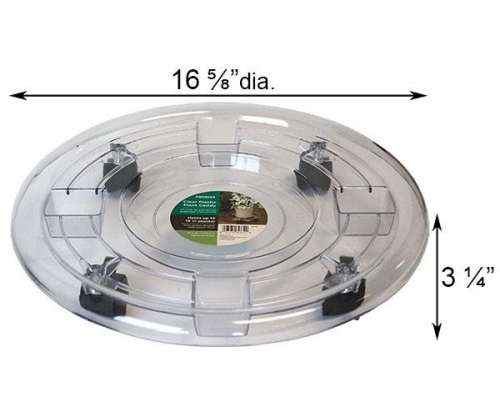 16 Inch Panacea Plastic Plant Caddy Clear