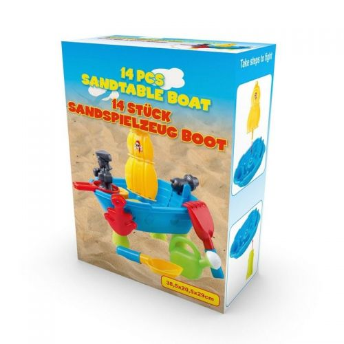 Kids Pirate Ship Sand water table Outdoor Activity Pits Playset