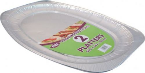 Large 2pk Disposable Foil Platter for Serving Party Birthday Catering