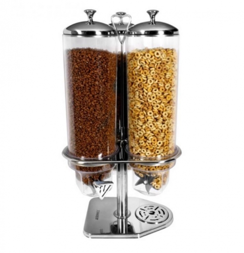 60Cm Triple Cereal Dispenser For Home Hotel Stainless Steel
