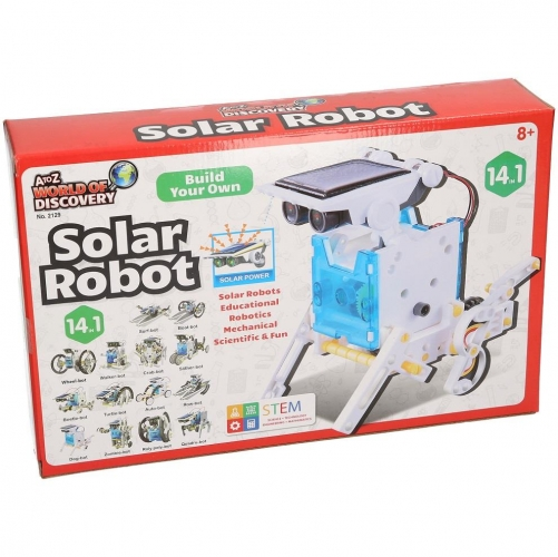 14 In 1 Bulid Your Own Solar Robot Kit