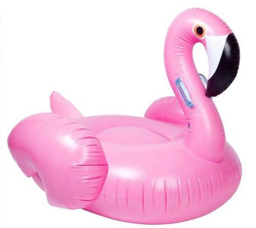 Giant 160Cm Inflatable Flamingo Lounger Float Swining Pool Fun