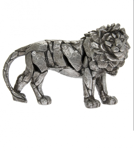 Natural World Lion Decoration figure Home Ornament Stylish 32x20cm silver
