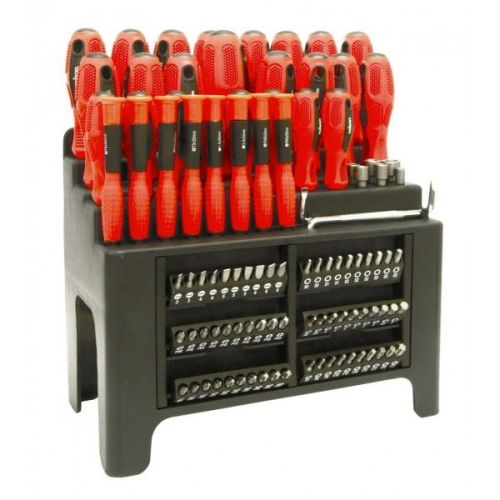 Rolson Tools 100Pc Screwdriver Set With Bits With Stand