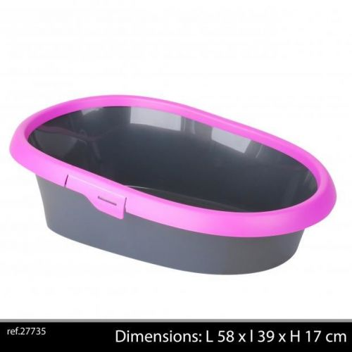 Cat Litter Tray Deluxe Pink