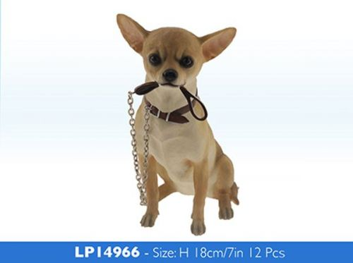 18cm Walkies Chihuahua Dog Sitting Animal Figurine Ornament Gift Idea