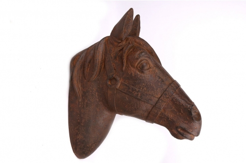 31x36 Horse Head Rust Finish Home Decoration Ornament Wall Hanging