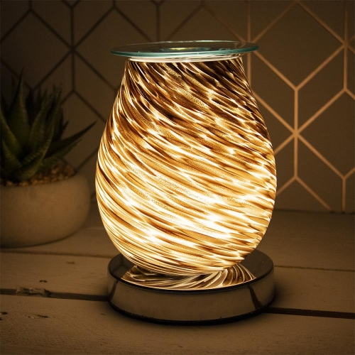 Desire Aroma 3d Electric Touch Lamp Glitter Wax Melt Oil Burner