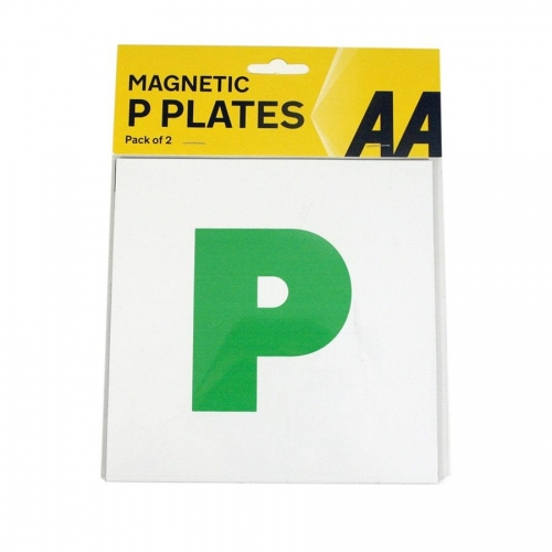 2 Magnetic Learner Green P Pass Plates