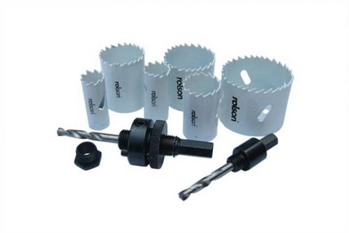 9pc Plumbers Bi Metal Holesaw Kit