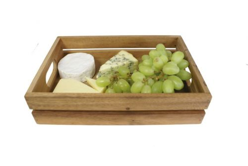 Mini Wooden Vintage Storage and Presentation Crate Fruit Box 30x21x7(h)cm Easy Grip