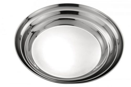 35cm Round Waiter Serving Tray S/Steel For Bar Drinks Food