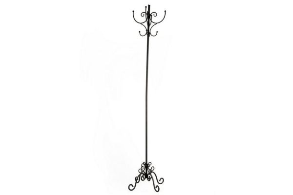 176X37Cm Black Metal 8 Hooks Coat Hat Stand Vintage Style Home Decoration