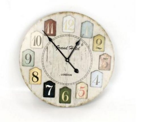 40cm Retro Wooden Wall Clock For Home Kitchen Living Dining Bedroom