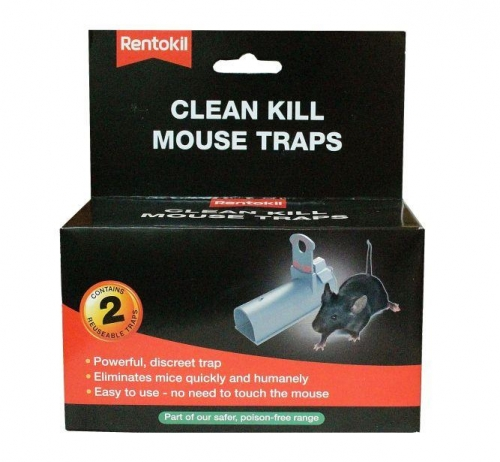 Pack of 2 Clean Kill Mouse Trap Poison Free And ReUseable