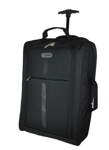 5Cities 21 inch Trolley Bag Black