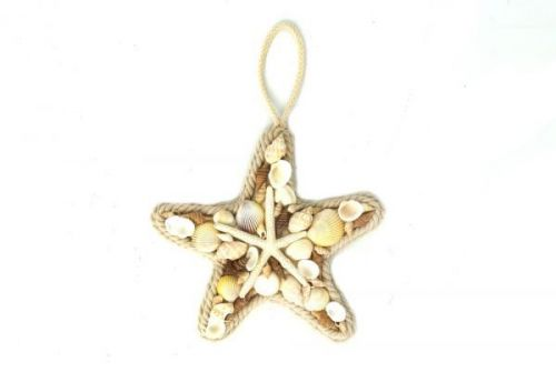 31x31cm Large Shell Star Fish Rope Hanging Home Decoration Nautical Theme