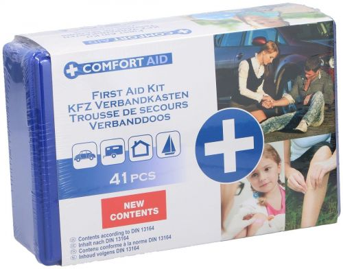 41 Piece Compact Medical First Aid Kit Travel Box Emergency Workplace Home Car