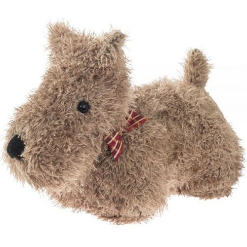 Heavy Dog Doorstop Brown Fluffy 19Cm