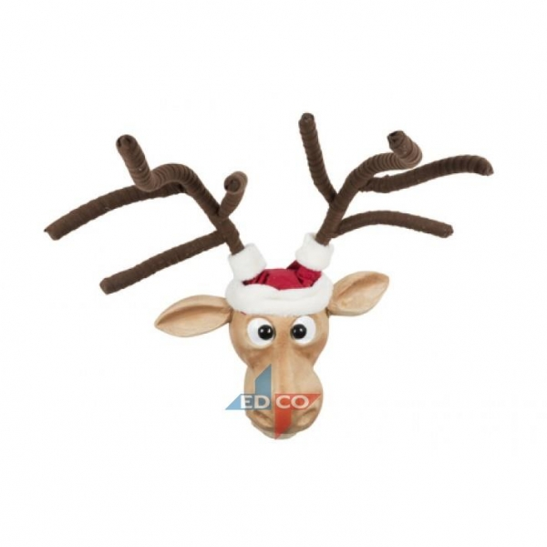 Christmas deer head hanging Gift Brown