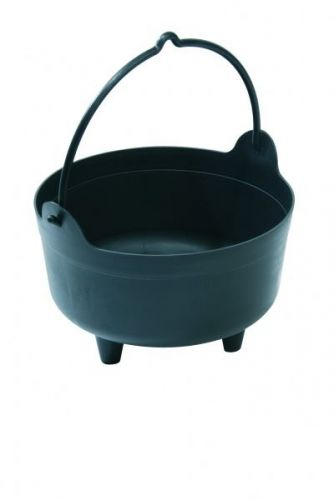 Black Small Cauldron Indoor Outdoor Plant Arrangements Gardening