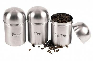 3pc Domed Lid Canister Set