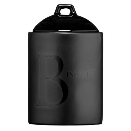 Black Text Biscuit Storage Jar Ceramic Also Available Tea/ Coffee/Sugar