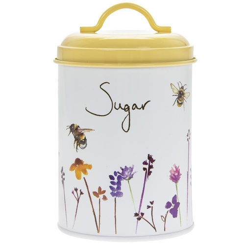Busy Bees Round Metal Sugar Storage Canister