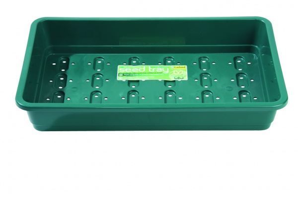 Standard Seed Tray Green With Holes Home Gardening