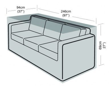 3 Seater Large Sofa Cover Furniture Polyethylene