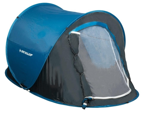 Dunlop Pop-up Tent 1 Person 220 x 120 x 90 cm Blue