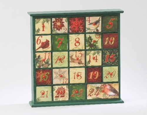 Christmas Advent Calendar with 24 Boxes Ornament Decoration