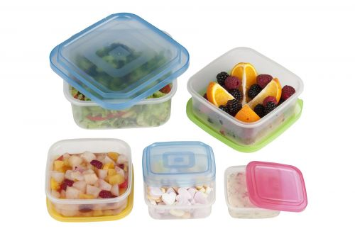 10 pcs Food Storage Plastic Box Square Containers with Lids