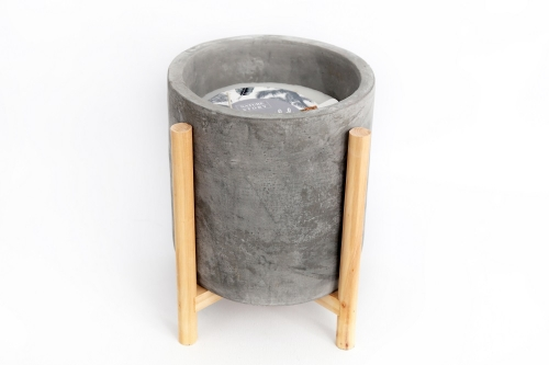 20 CM Cement Candle Pot With Stand