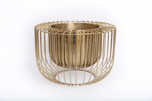 Gold Wire Design Decorative Indoor Planter 32cm