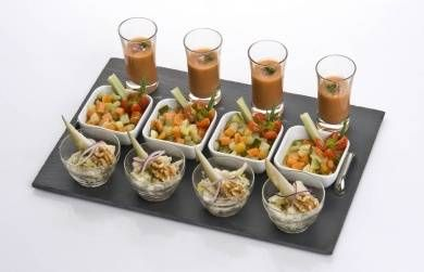 Appetizer Set with Slate Tray