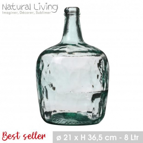 Lady Jeanne Recycled Glass Vase 8L